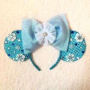 Other - Handmade Elsa inspired Minnie Mouse ears